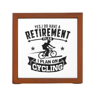 Retirement Plan cycling Desk Organizer