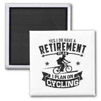 Retirement Plan cycling Magnet