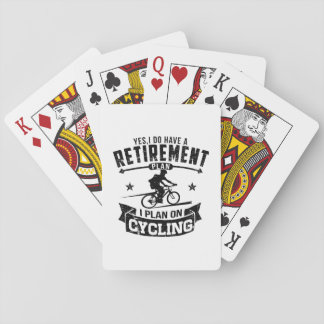 Retirement Plan cycling Playing Cards