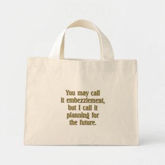 Retirement Planning Mini Tote Bag