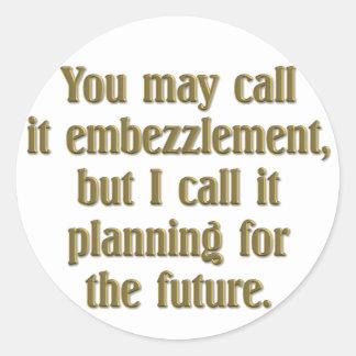 Retirement Planning Round Sticker