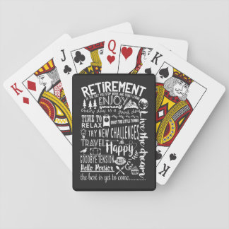 Retirement playing cards