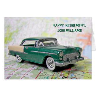 Retirement Retro Car Card