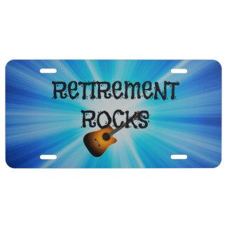 Retirement Rocks--custom guitar design License Plate
