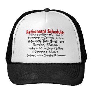 """Retirement Schedule"" Funny Gifts Trucker Hat"