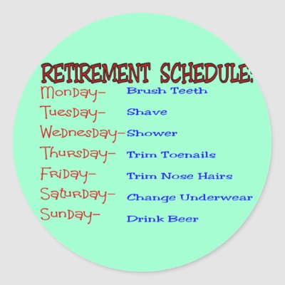 Gifts retirement on retirement schedule funny retirement gifts round