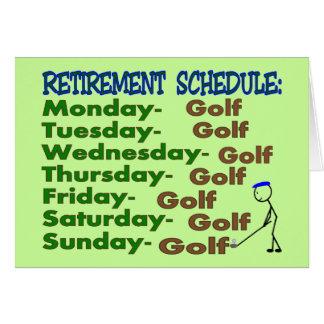 Retirement Schedule GOLFER Card