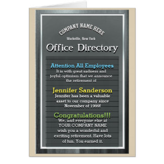 Retirement Sign - Office Humor / Inspiration Card