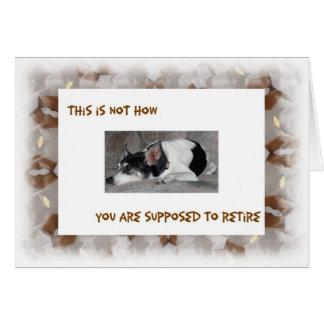 Retirement, Sleepy Dog Image Card