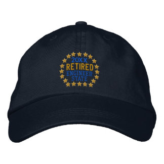 Retirement Stars Personalize it  Embroidered Cap