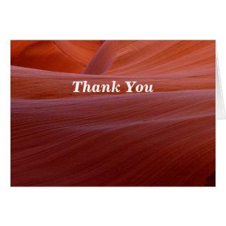 Retirement Thank You Golden Canyon Swirl Card