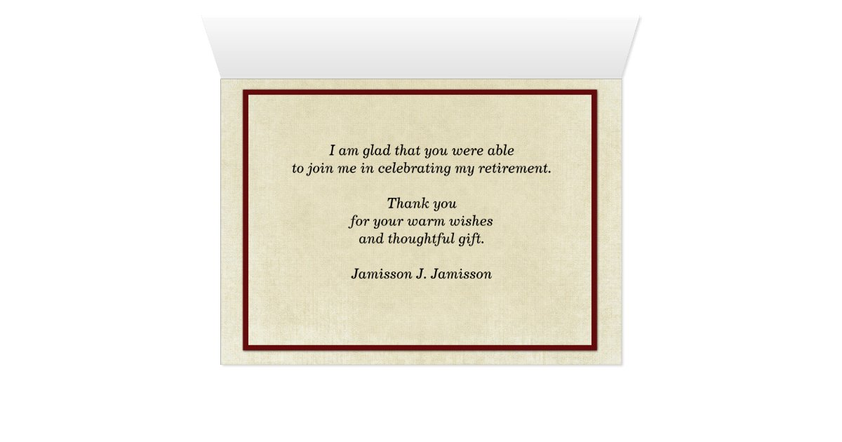 Retirement Thank You Note Three Red Canoes Card
