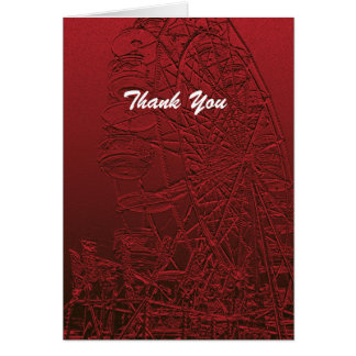 Retirement Thank You Red Ferris Wheel Card
