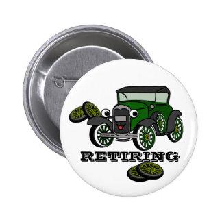 Retiring Antique Car 2 Inch Round Button