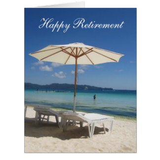 retiring blue shade big big greeting card