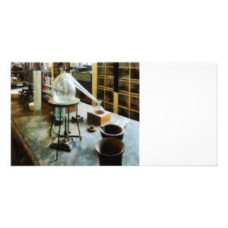 Retort in Chem Lab Photo Card Template