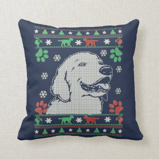 Retriever - Christmas Sweater Throw Pillow