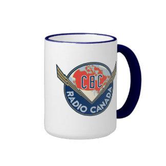 Retro 1940-1958 ringer coffee mug