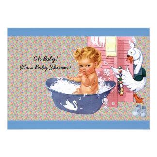 Retro 1940s Baby Boy Shower Custom Announcement