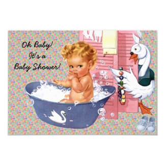 Retro 1940s Baby Shower V2 Card