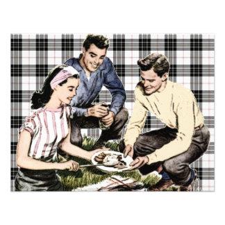 Retro 1940s BBQ Personalized Invitation