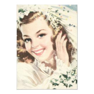 """Retro 1940s Bridal Shower 5"""" X 7"""" Invitation Card"""