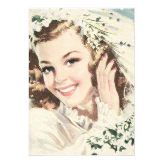 Retro 1940s Bridal Shower Personalized Invitations