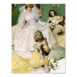 Retro 1940s Bridal Shower 4.25x5.5 Paper Invitation Card