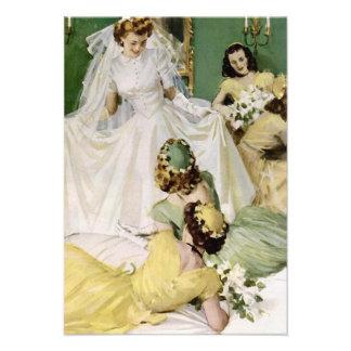Retro 1940s Bridal Shower V2 Custom Announcements