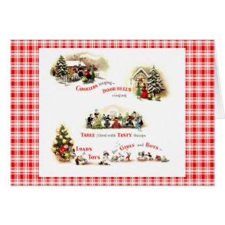 Retro 1940s Christmas Card