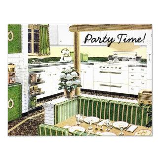 "Retro 1940s Dinner Party 4.25"" X 5.5"" Invitation Card"