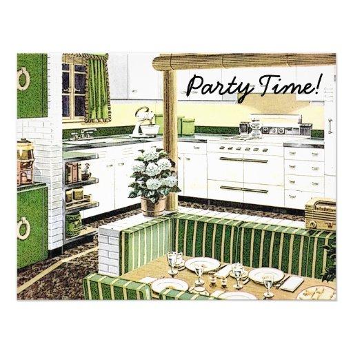 Retro 1940s Dinner Party Custom Announcement