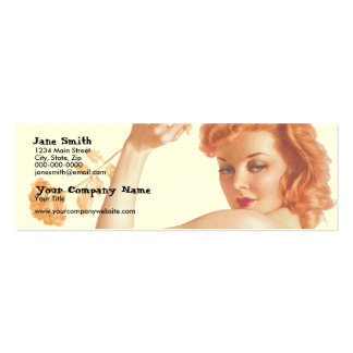 Retro 1940s Love Pack Of Skinny Business Cards