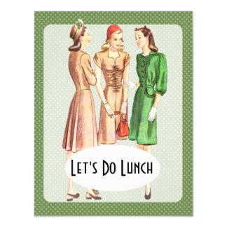 """Retro 1940s Luncheon V1 4.25"""" X 5.5"""" Invitation Card"""