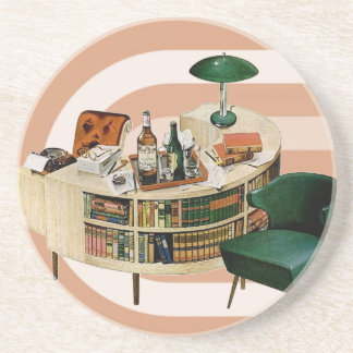 Retro 1940s Office Drink Coasters