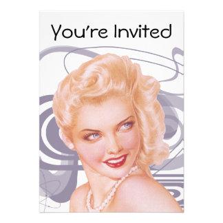 Retro 1940s Pinup Invite