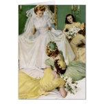 Retro 1940s Wedding Card