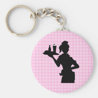 Retro 1950 Car Hop Keychain