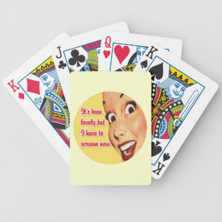 Retro 1950 Housewife Funny Playing Cards