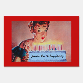 Retro 1950s Birthday Sign