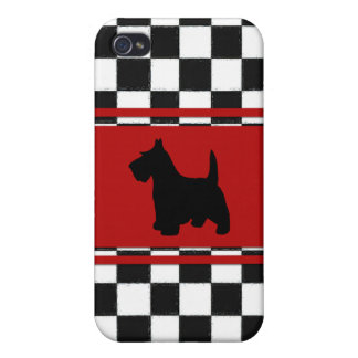 Retro 1950s Classic Scottish Terrier Dog iPhone 4/4S Covers