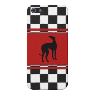 Retro 1950s Classic with Greyhound Dog iPhone 5 Case