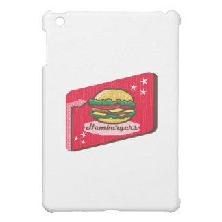 Retro 1950s Diner Hamburger Sign iPad Mini Covers