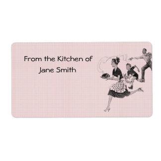 Retro 1950s Kitchen Labels
