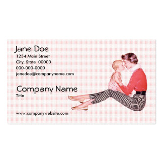 Retro 1950s Mom and Baby Pack Of Standard Business Cards