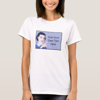 Retro 1950s Pointing Woman T-Shirt