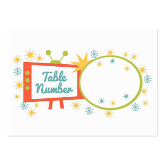 Retro 1950's Themed Table Number Cards Large Business Card