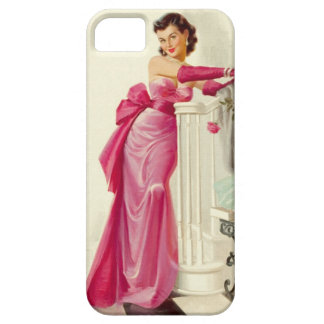 Retro 1950s Woman With Roses iPhone 5 Case
