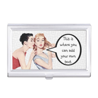 Retro 1950s Women Gossipers Business Card Holders