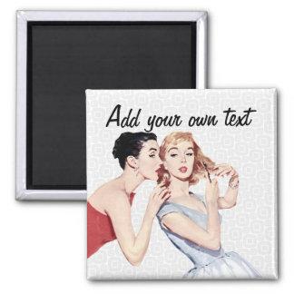 Retro 1950s Women Gossipers Magnet